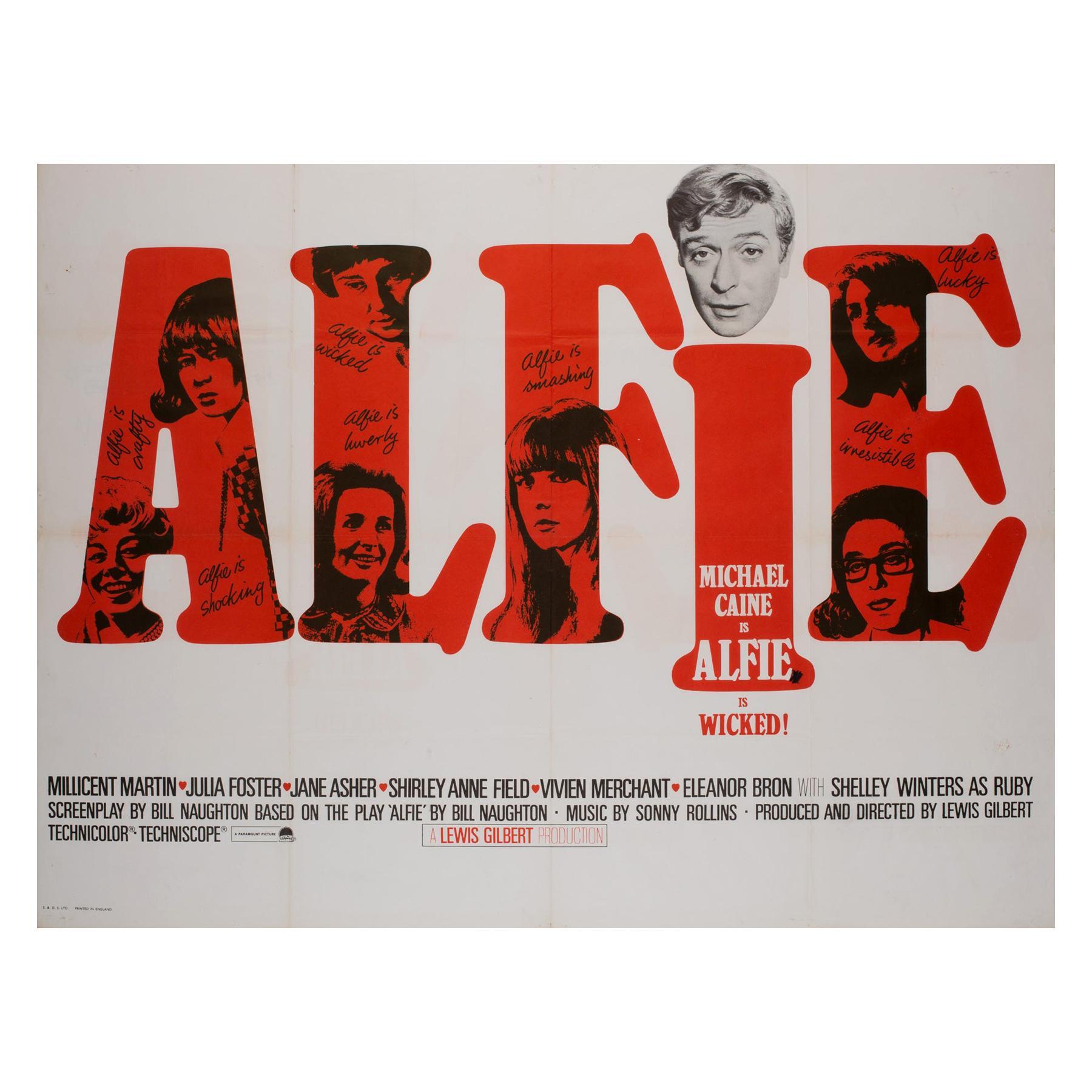 Alfie UK Quad Film Movie Poster, 1966