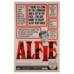 Alfie US 1 Sheet, Film Movie Poster 1966 Linen Backed