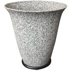 Alfiero Mangani Granite Finish Ceramic Flared Vase