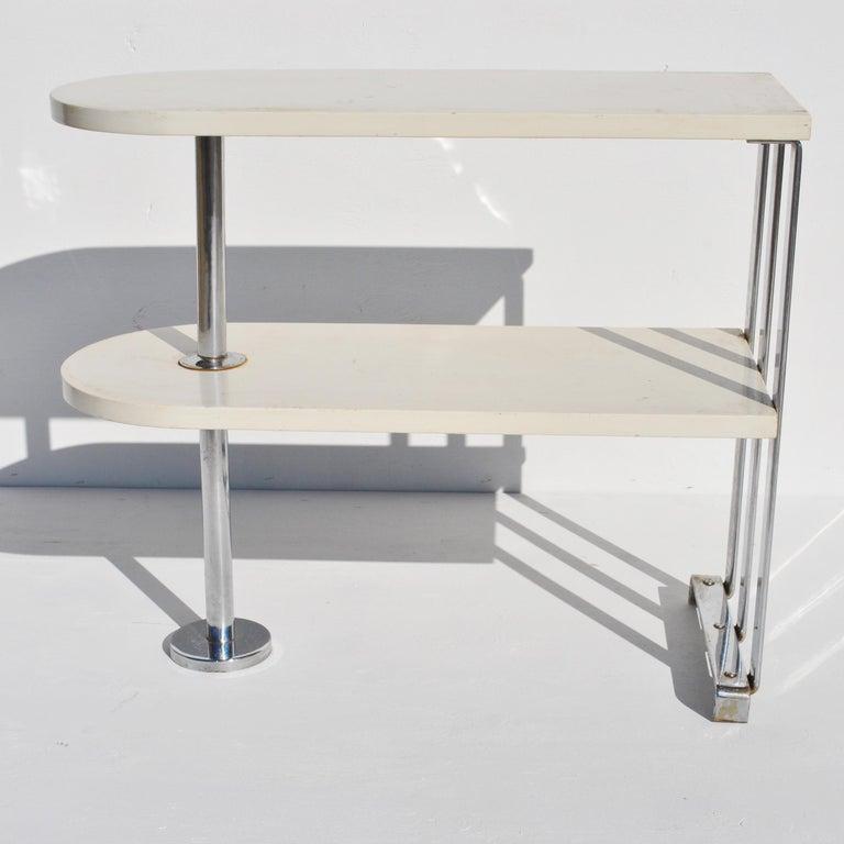 Mid-20th Century Alfons Bach For Lloyd Loom Art Deco Side Table Shelf