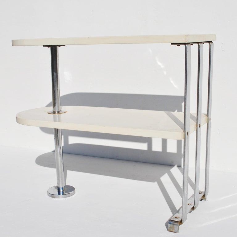 Alfons Bach For Lloyd Loom Art Deco Side Table Shelf 1
