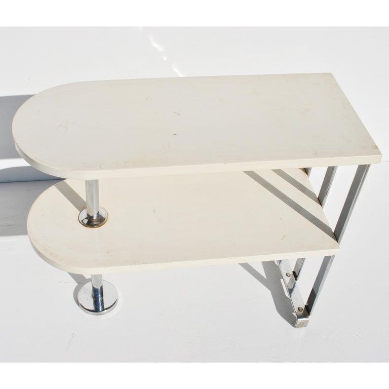 Alfons Bach For Lloyd Loom Art Deco Side Table Shelf 2
