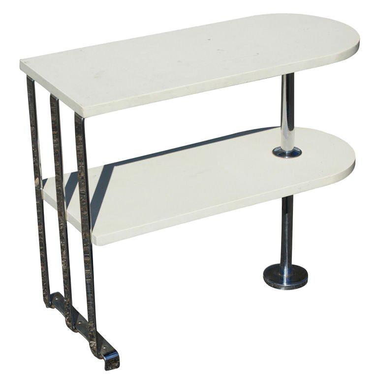 Alfons Bach For Lloyd Loom Art Deco Side Table Shelf