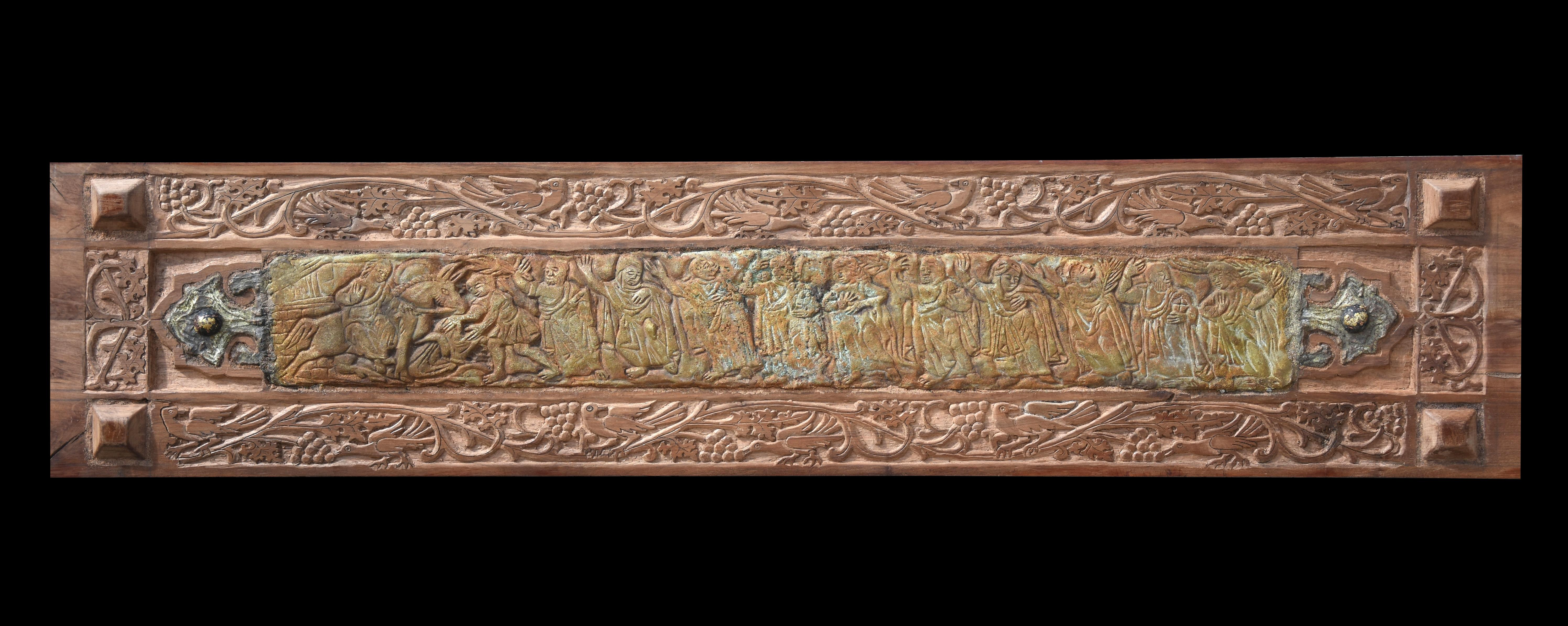 """""""Peace"""" Mixed media work on wood 13"""" x 59"""" inch by Alfons Louis"""