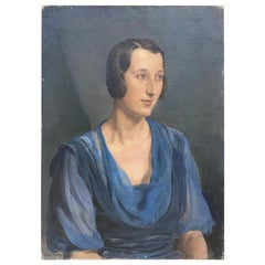 Alfons Verheyen, (1903-1990)  Portrait of Mll Bruneim , circa 1930.