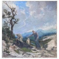 "Alfons Verheyen, ""la mort du poète"", circa 1930"