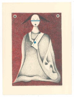 The Japanese - Original Lithograph by Alfonso Avanessian - 1989