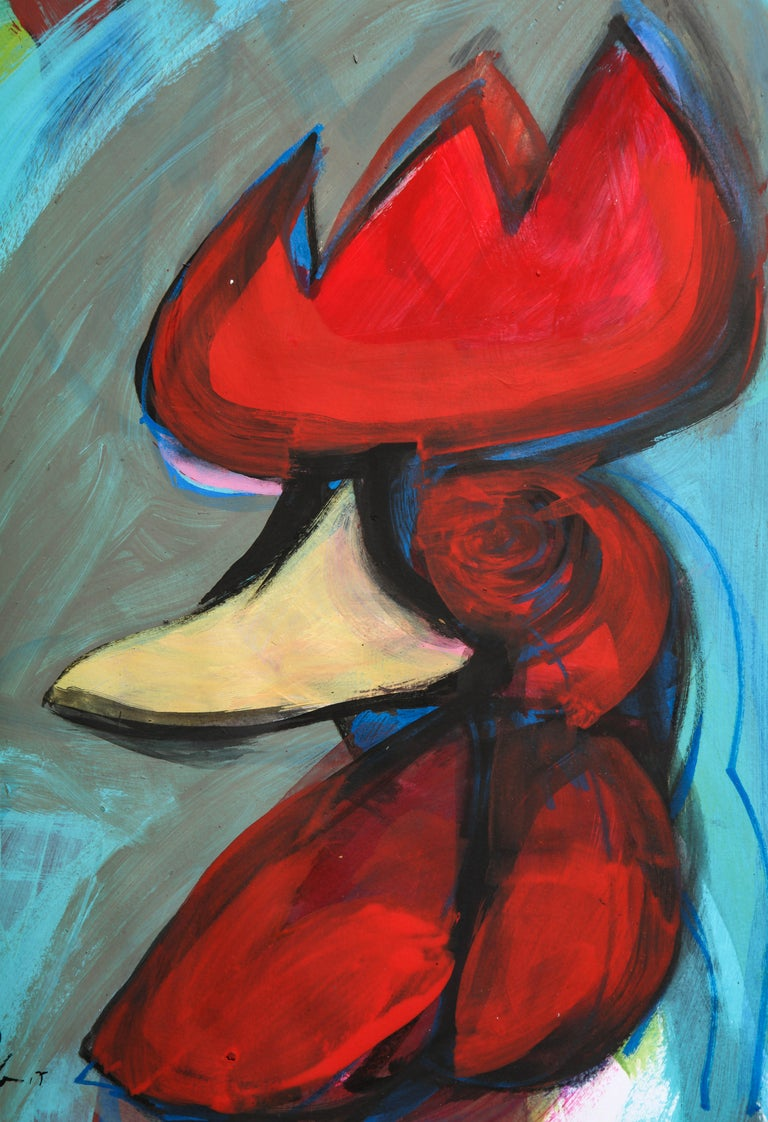 Contemporary painting 'Rooster II' (Rooster Collection) by Alfonso Muñoz For Sale 2