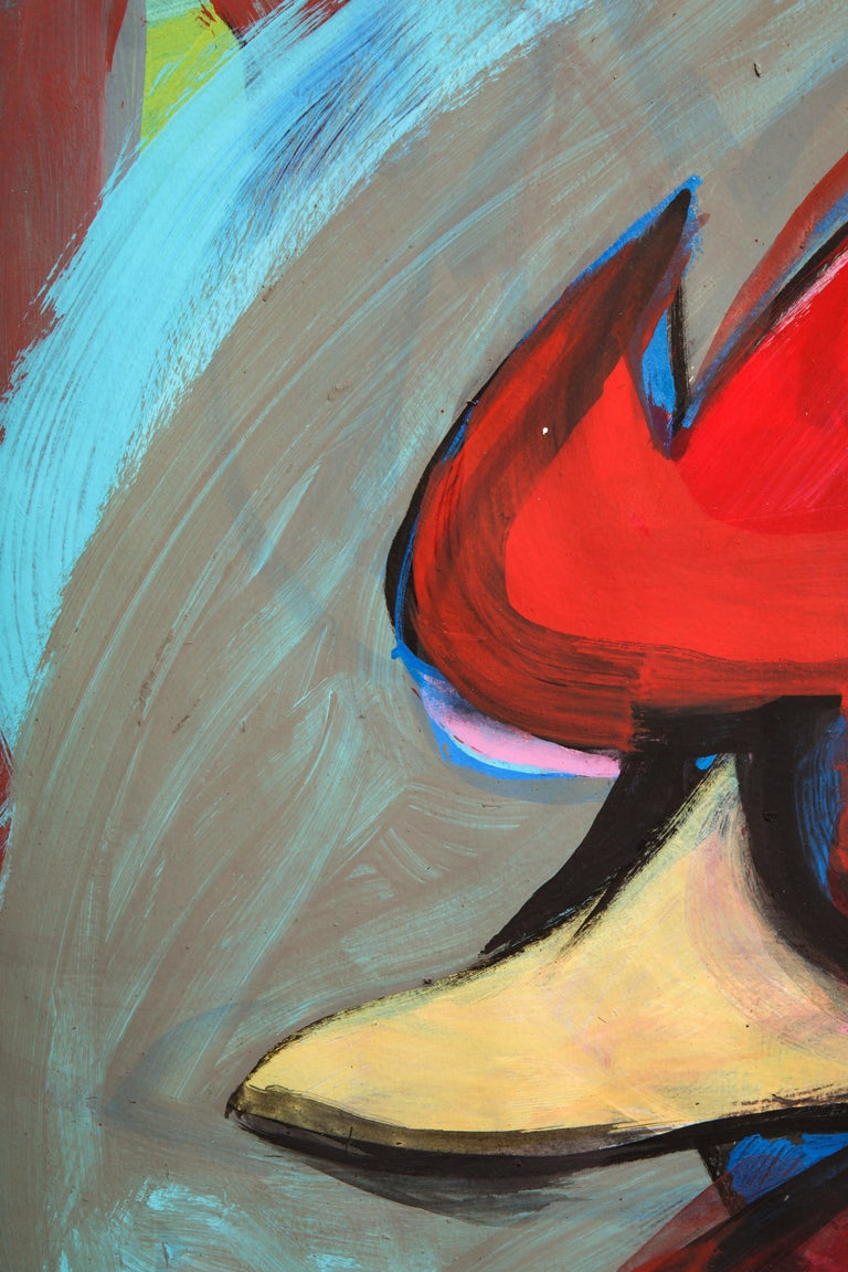 Contemporary painting 'Rooster II' (Rooster Collection) by Alfonso Muñoz For Sale 4