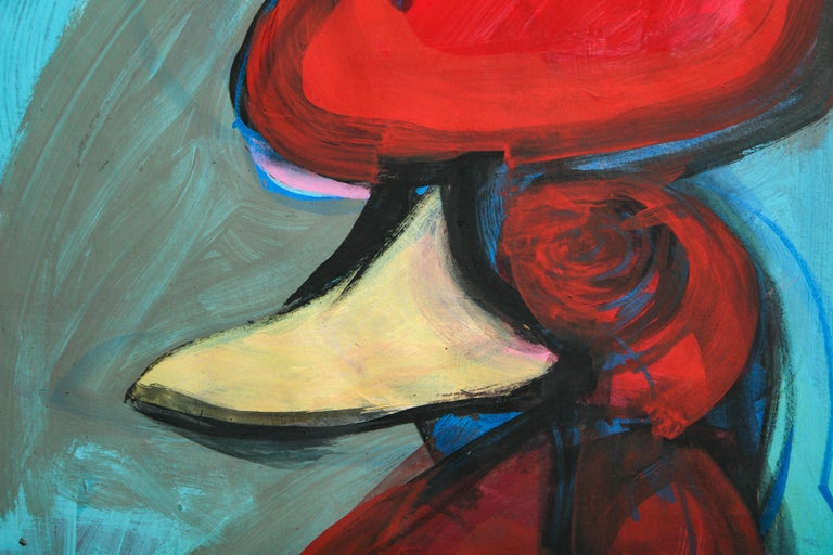 Contemporary painting 'Rooster II' (Rooster Collection) by Alfonso Muñoz For Sale 5