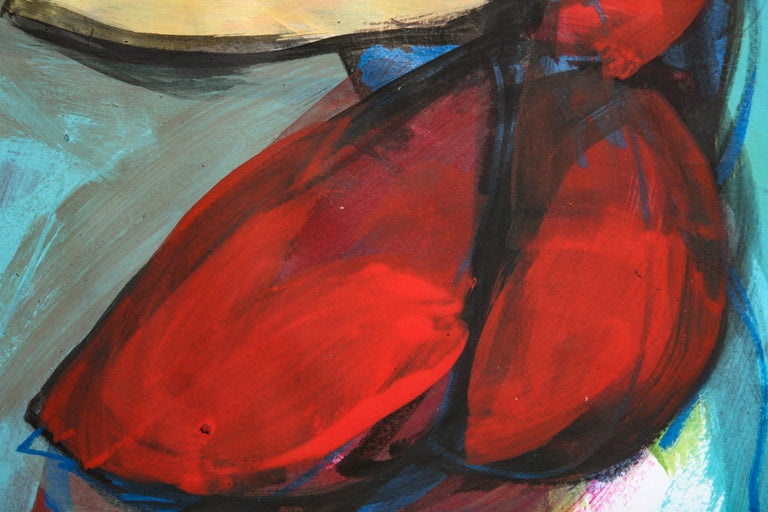 Contemporary painting 'Rooster II' (Rooster Collection) by Alfonso Muñoz For Sale 6
