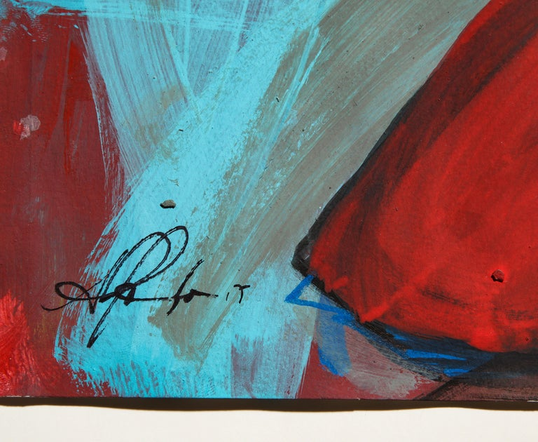 Contemporary painting 'Rooster II' (Rooster Collection) by Alfonso Muñoz For Sale 8
