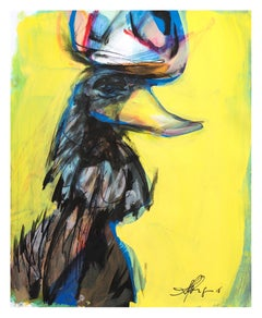 Contemporary painting 'Rooster III' (Rooster Collection) by Alfonso Muñoz