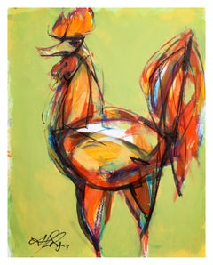 Contemporary painting 'IV' (Rooster Collection) by Alfonso Muñoz