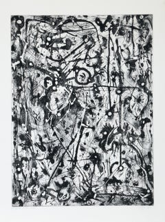 Abstract Expressionist etching by Alphonso Ossorio