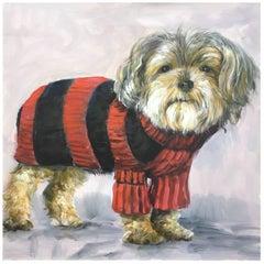 DOG - Alfonso Pragliola Animalia Oil on Canvas Painting