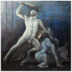 MYTHOLOGICAL SCENE- Italian School - Oil on canvas Painting.
