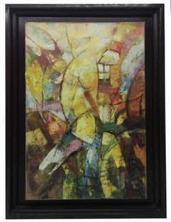 THE ARCHER - Italian Abstract Oil on Canvas Painting, A.Pragliola