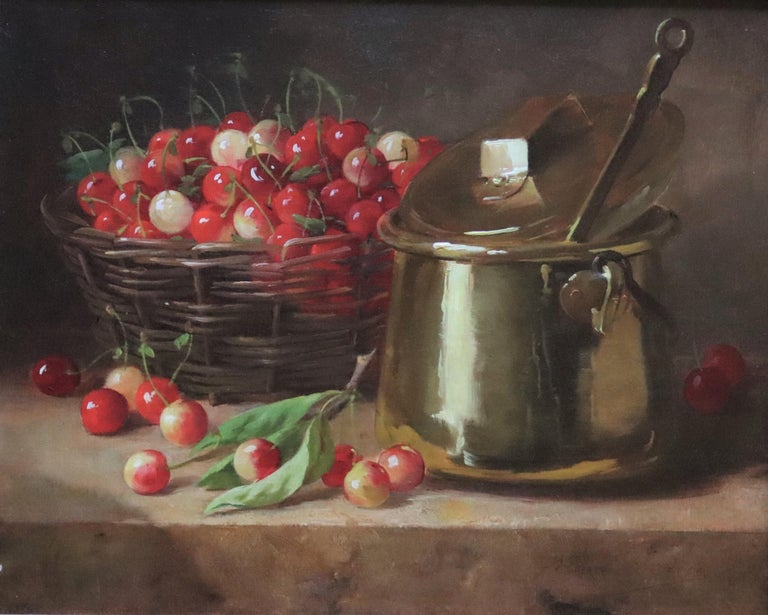 Panier de Cerises  - Painting by Alfred Arthur Brunel De Neuville