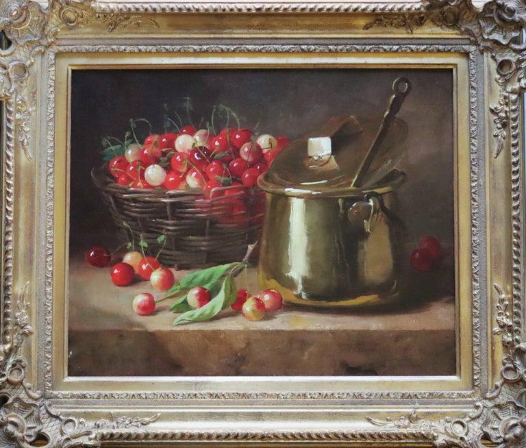 Alfred Arthur Brunel De Neuville Still-Life Painting - Panier de Cerises