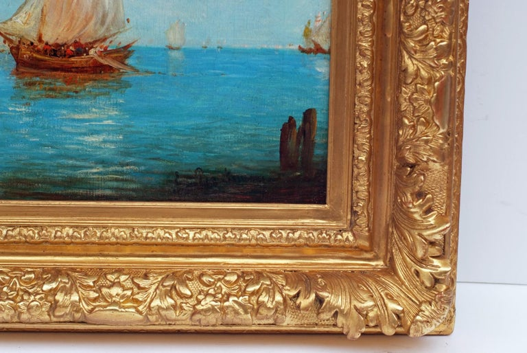 Venice The Lagoon, Painting 19th Century For Sale 2
