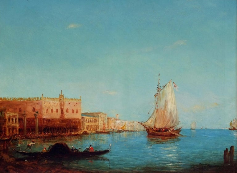 Venice The Lagoon, Painting 19th Century For Sale 3