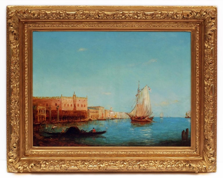 Alfred August Felix Bachman Landscape Painting - Venice The Lagoon, Painting 19th Century