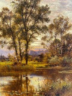 A Quiet Stream by Alfred Augustus Glendening Senior, Arundel Castle, West Sussex