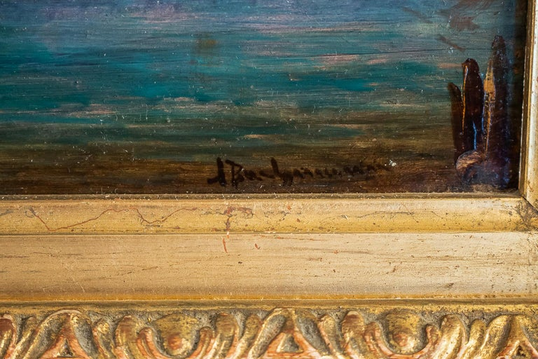 Alfred Bachmann, Pair of Oil on Panel Venice Views, circa 1890-1910 For Sale 8