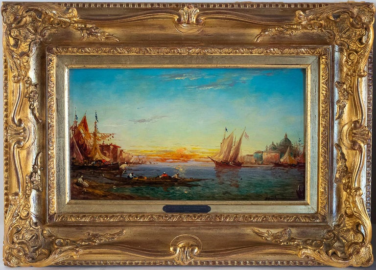 German Alfred Bachmann, Pair of Oil on Panel Venice Views, circa 1890-1910 For Sale