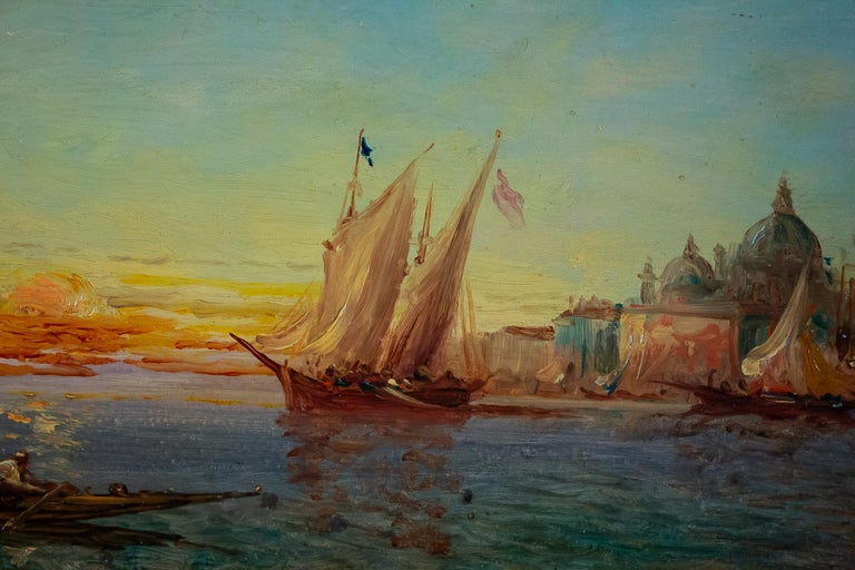 19th Century Alfred Bachmann, Pair of Oil on Panel Venice Views, circa 1890-1910 For Sale