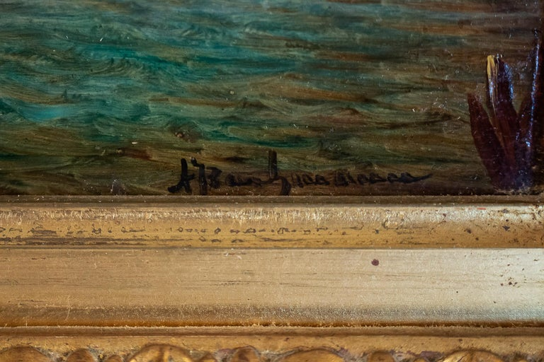 Wood Alfred Bachmann, Pair of Oil on Panel Venice Views, circa 1890-1910 For Sale