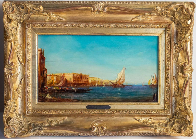 Alfred Bachmann, Pair of Oil on Panel Venice Views, circa 1890-1910 For Sale 2