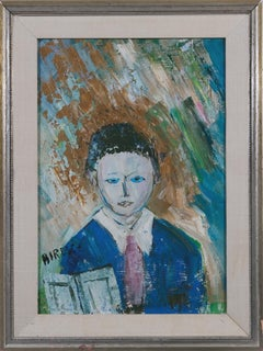 Bermudian Boy, oil, Started painted at 16, Bright Colors, Pastels, Self-taught