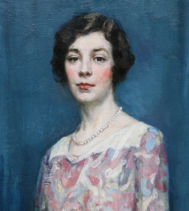 Standing Female Portrait - Scottish 1920's Colourist art portrait oil painting For Sale 1