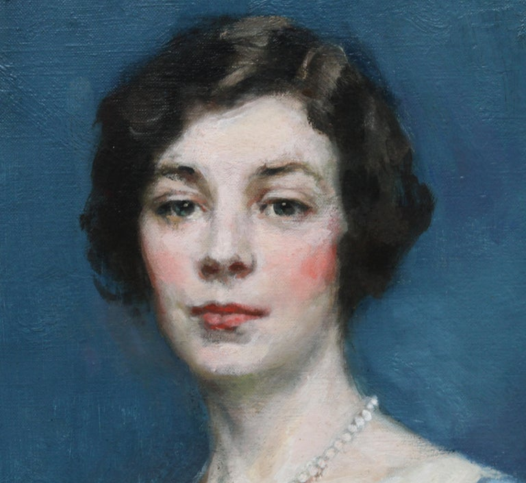 Standing Female Portrait - Scottish 1920's Colourist art portrait oil painting For Sale 2