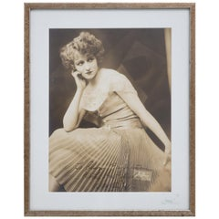 Alfred Cheney Johnston Sepia Toned Silver Photograph with Studio Stamp