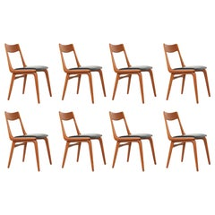 """Alfred Christensen """"Boomerang"""" Teak Dining Chairs for Slagelse Møbelfabrik"""
