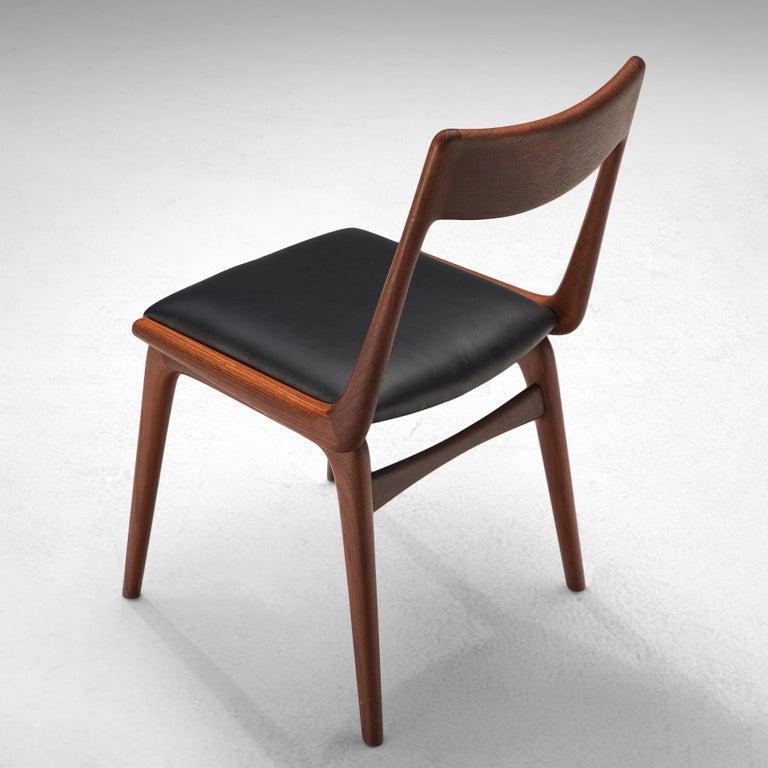 Alfred Christensen for Slagelse Møbelvaerk Set of 10 Dining Chairs in Teak For Sale 3