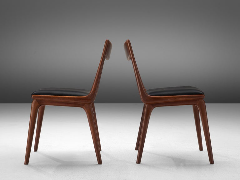Alfred Christensen for Slagelse Møbelvaerk Set of 10 Dining Chairs in Teak For Sale 4