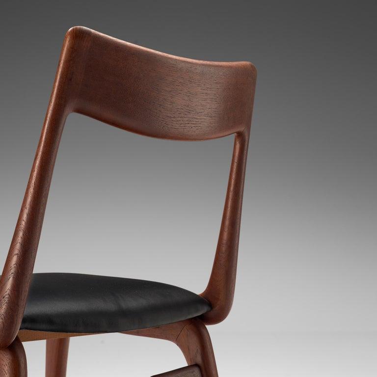 Scandinavian Modern Alfred Christensen for Slagelse Møbelvaerk Set of 10 Dining Chairs in Teak For Sale