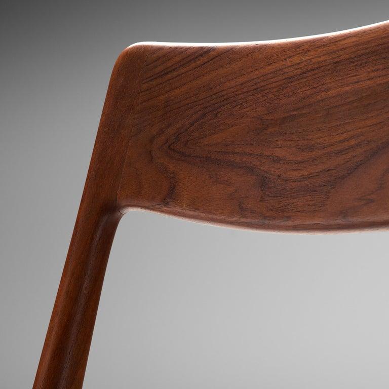 Faux Leather Alfred Christensen for Slagelse Møbelvaerk Set of 10 Dining Chairs in Teak For Sale