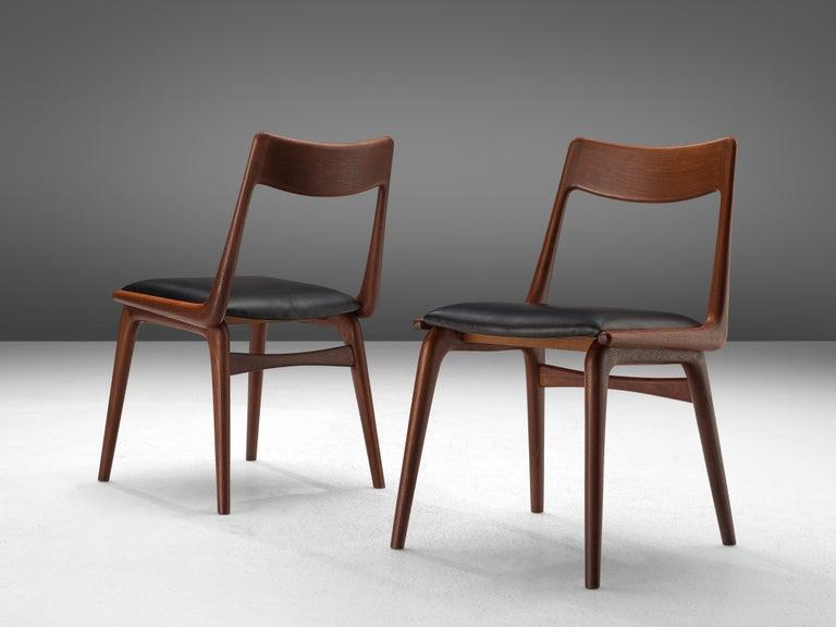 Alfred Christensen for Slagelse Møbelvaerk Set of 10 Dining Chairs in Teak For Sale 2