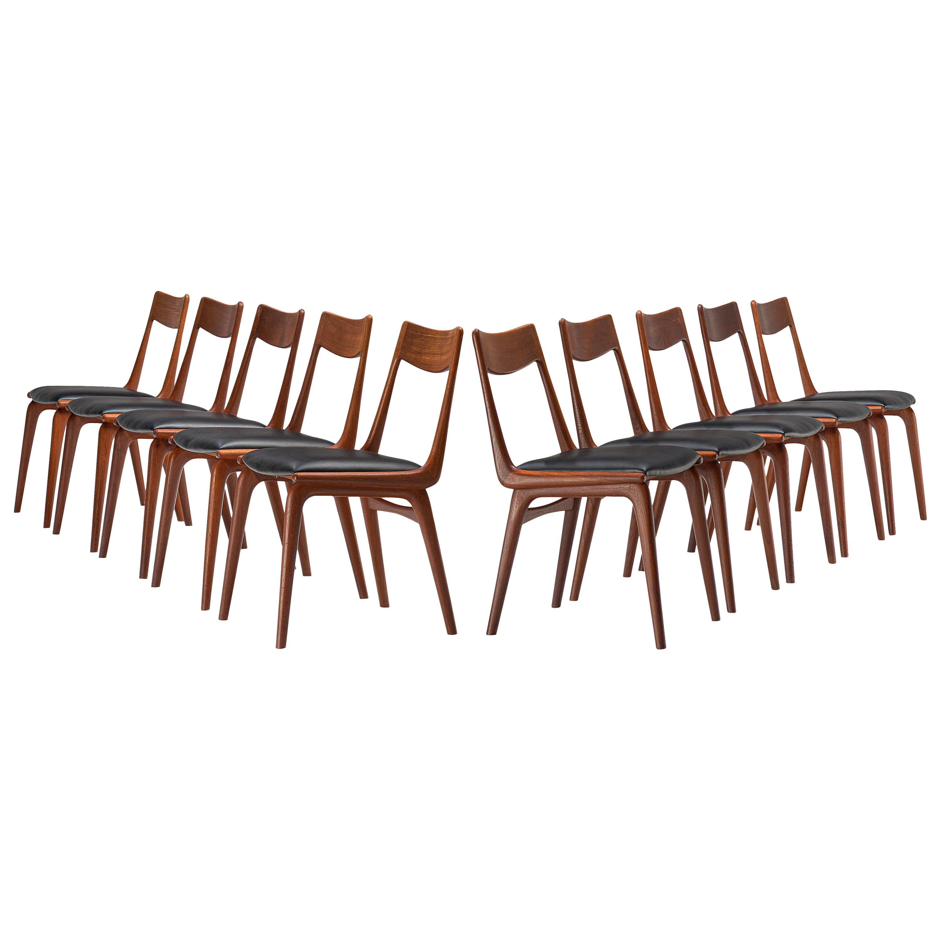 Alfred Christensen for Slagelse Møbelvaerk Set of 10 Dining Chairs in Teak