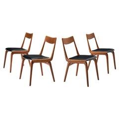 Alfred Christensen for Slagelse Møbelvaerk Set of Four 'Boomerang' Dining Chairs