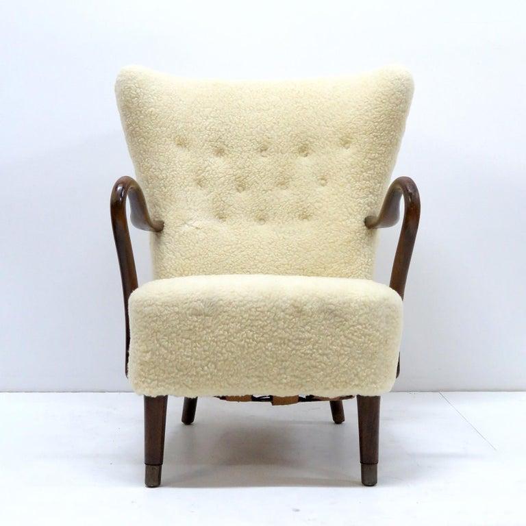 Scandinavian Modern Alfred Christensen Lounge Chair, 1940 For Sale