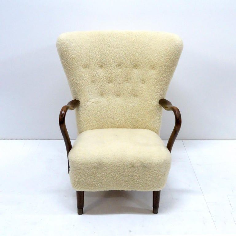 Danish Alfred Christensen Lounge Chair, 1940 For Sale