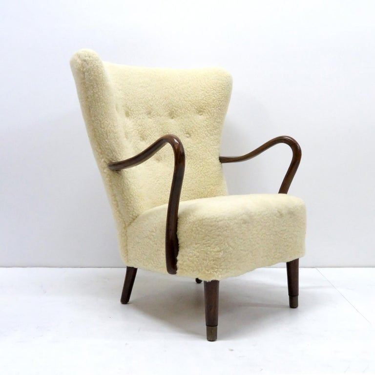Stained Alfred Christensen Lounge Chair, 1940 For Sale