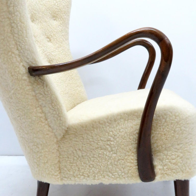 Alfred Christensen Lounge Chair, 1940 In Good Condition For Sale In Los Angeles, CA