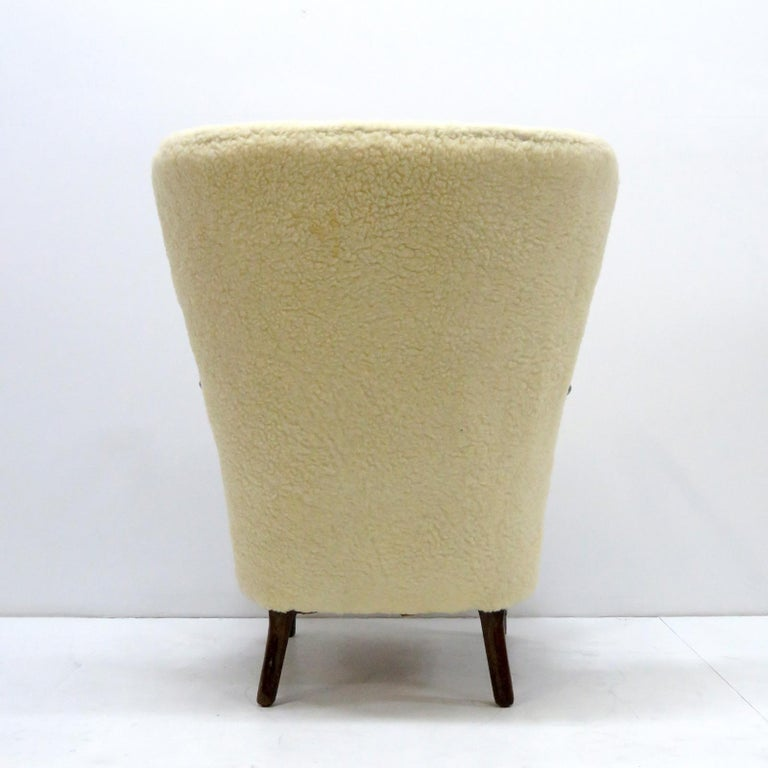 Upholstery Alfred Christensen Lounge Chair, 1940 For Sale